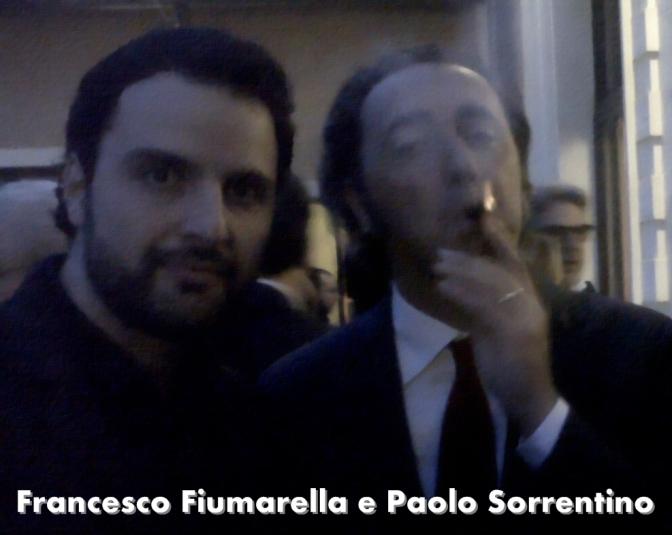 Francesco Fiumarella e Paolo Sorrentino + le foto di scena della grande bellezza