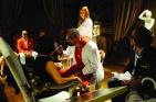 """Toni Servillo, Massimo Populizio e Paolo Sorrentino sul set del film di Paolo Sorrentino, """"La grande bellezza"""" (foto di Gianni Fiorito)"""