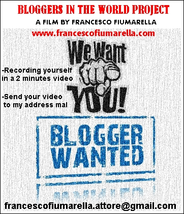 """BLOGGERS IN THE WORLD PROJECT"" –  Inviare il video entro il 30 giugno 2015"