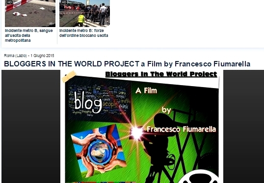 "BLOGGERS IN THE WORLD PROJECT""- Youreporter.it"