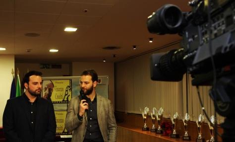 francesco fiumarella (autore del premio) e alessandro borghi