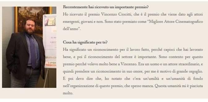 Premio Vincenzo Crocitti 2016 – Intervista a Stefano Fresi
