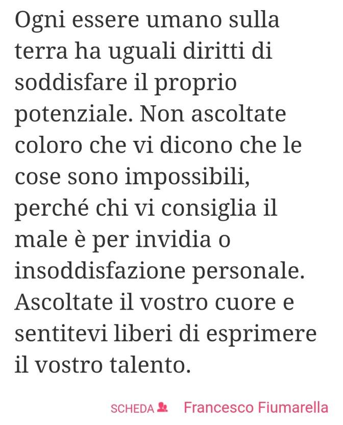 Il Proprio Potenziale Artistico – Francesco Fiumarella