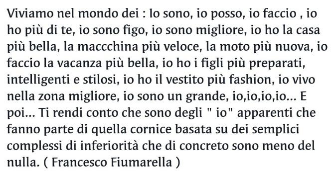 """Il mondo """" Io"""" – Francesco Fiumarella"""