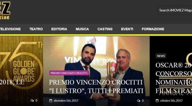 Premio Vincenzo Crocitti 2017 – V edizione – Primo Lustro –  Francesco Fiumarella Autore e Direttore