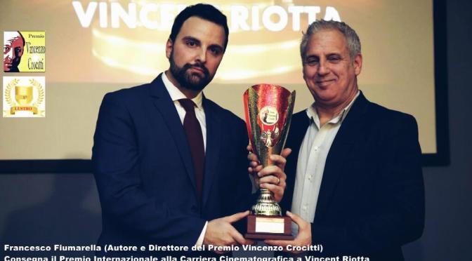 """Intervista esclusiva all'Autore e Direttore del Premio,  Francesco Fiumarella insieme all'attore britannico Vincent Riotta, premiato dallo stesso nella categoria """"Carriera Internazionale"""" ."""