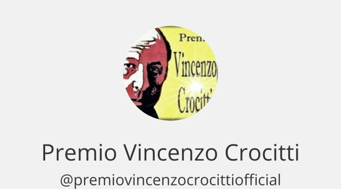 Premio Vincenzo Crocitti – Official Instagram e Facebook.